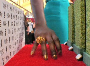 Lupita Nyong'o Mani Cam at 2015 SAG Awards