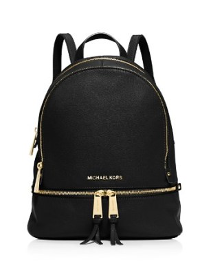 Michael Kors Rhea Bagpack in Black